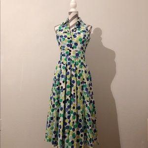 Spring Polka Dot Dress Talbots